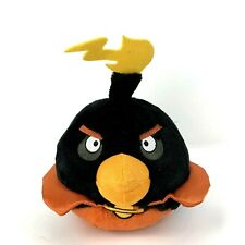 """Black Angry Bird """"Bomb"""" 8"""" Plush Soft Toy Embroidered Stuffed Animal Sounds"""