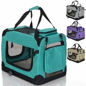Faltbare Hunde Transportbox für Katzen Tragetasche Haustiere 70x50x50 GRÜN