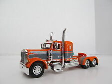 DCP 1/64 SCALE 379 PETERBILT SMALL BUNK (DAY CAB OPT) ORANGE WITH GRAY STRIPE