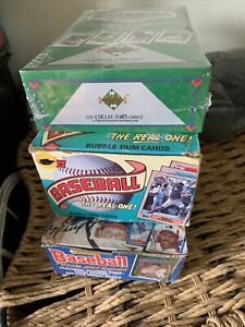 1987 Baseball Topps 1988 Donruss &1990 UD Boxes 36 Packs Bonds McGwire Griffey