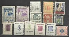 7662-LOTE SELLOS LOCALES ,VIÑETAS,ESPAÑA GUERRA CIVIL,2ª REPUBLICA.ORIGINALES