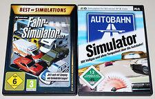 2 PC SPIELE SET - FAHR SIMULATOR 2012 & AUTOBAHN SIMULATOR - FAHREN FAHRSCHULE