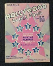 1936 HOLLYWOOD Dance Folio #16 VG+ 4.5 Shirley Temple 64pg 15 Songs Sheet Music