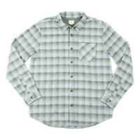 Jack O'Neill Mens Sheltered Flannel L/S Shirt Light Grey M New