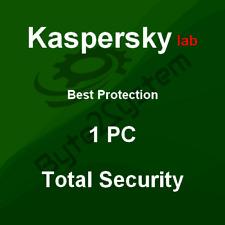 Kaspersky Total Security 2018 - 1 PC/MD/ESD - 1 Jahr - NICHT PREAKTIVIERT