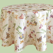 Tischdecke ca. 150 cm RUND großer Tisch Tafel mit Druck Schmetterling NEU