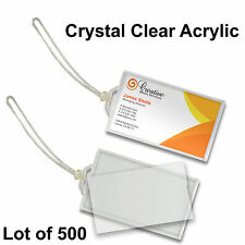 Luggage Tag Snap-in Crystal Clear Acrylic 500 pcs #LT70-Clear- 500#