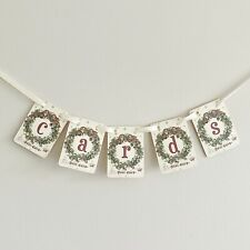 Christmas Wedding Card Garland Sign Postbox Vintage Style Winter