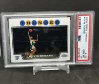 2008-09 Topps Chrome KEVIN DURANT #156 2nd Year PSA 10 Gem Mint! LOW POP