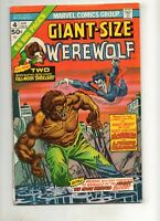 Giant-Size Werewolf by Night #4 MORBIUS RARE APPEARANCE 1976 Marvel! NICE VF 7.5