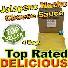 Gold Medal El Nacho Grande Jalapeno Nacho Cheese 4 bags use w/ Warmer Dispenser