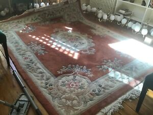 Vintage Chinese Rug Tan/Green 8x10Ft