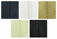1 METRE CONTINUOUS ZIP & SLIDERS No.10 CHUNKY *5 COLOURS* ZIPPERS REPLACEMENT UK