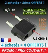 ADAPTATEUR CONVERTISSEUR  220V PRISE US USA AMERIQUE EUROPE FRANCE X1 ASIE