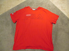 VINTAGE Fila Sport Shirt Adult Extra Large Grant Hill Red Spell Out Mens 90s