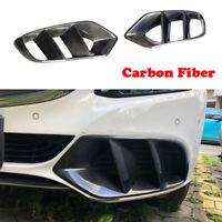 Carbon Lufteinlässe Entlüftung Für Mercedes Benz W205 15-18 Front Gril Air Vent