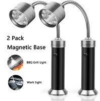 LED BBQ Lights Barbecue Grill Light Magnetic Base 360° Flexible Gooseneck 2Pcs