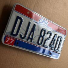 OHIO Blech Nummernschild = USA 1977 ORIGINAL License Plate DJA 8240 TRAUMZUSTAND
