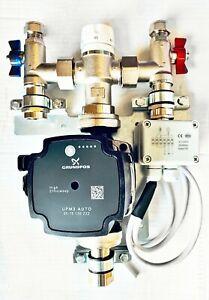 Underfloor Heating Grundfos Single Zone/Room Manifold Pump Mixing Blending Valve
