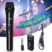 VHF Wireless Studio Karaoke Singing Microphone Handheld Mic System W/Receiver