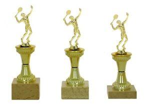 3er Serie Pokale für Tennis-Spieler 631-T,m. (H = 24-22cm) inkl.Gravur 22,95 EUR
