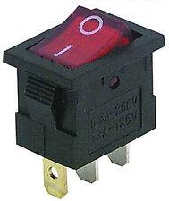 Wippenschalter beleuchtet EIN/AUS 230V 6,5A