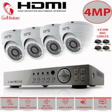 CCTV 4CH 4MP HD DVR Record 1440P IR-CUT Home Security Camera System Kit 4 Camera
