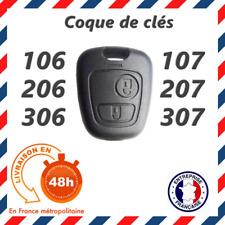 Demi coque clé plip pour Peugeot 107 206 207 306 307 407 2 boutons face avant