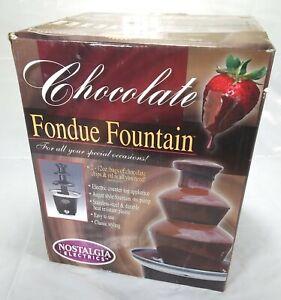 Nostalgia Electrics 3-Tier Chocolate Fondue Fountain CFF965
