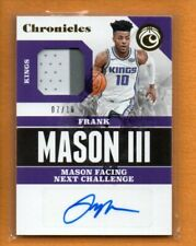 FRANK MASON III 2017-18 CHRONICLES SIGNATURES SWATCHES ROOKIE RC PATCH AUTO /10