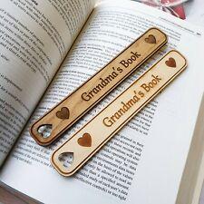 Personalised Wooden Bookmark Birthday Christmas Teachers Gift Mum Dad Gifts.