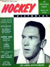 3rd Ever Issue of the Hockey Pictorial Magazine Dec 1955  Leo Labine - Boston