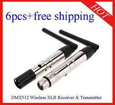 6pcs 2.4G DMX512 Wireless Receiver & Transmitter for Stage Light Free Shipping