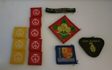 12 x Vintage Guides Girlguiding and Scout badges. Blankets.