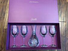 New listing Barski Swarovski Crystal Wine Glass & Carafe Sparkle Set Of 5 Wedding 41 Oz New