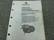 Meritor RT Series Axle Assembly Disassembly and Shop Service Maintenance Manual