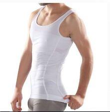 Beautyko USA Men's Body Builder Abs Tight Fit Trim TShirt  White Compression XXL
