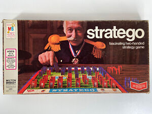 Vintage 1975 Milton Bradley Stratego Board Game Complete 4916 Strategy War