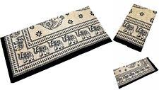 draps-housses Drap draps linge de lit 100% coton 210 x 230cm éléphant nr.e