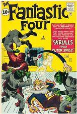 Fantastic Four #2 Facsimile Reprint Cover Only w/Orig Ads 2nd app FF 1st Skrulls