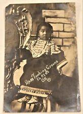 Antique Native American / Indian Child Real Photo Postcard / Rppc Shiffert 1909