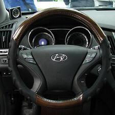 Gauss Premium Steering Wheel Cover - WOODY Wooden Brown / 37 cm