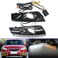 LED DRL Daytime Running Light Lamp Turn Signals For Holden Chevy Cruze 2009-2016