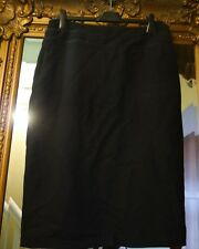 bnwot new laura ashley black smart flare hem lined skirt size 12