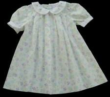 Girls PETIT AMI Pastel Floral Dress 18m White Pleated Bishop Gown Easter Spring