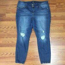 Torrid Premium Plus Distressed Medium Wash Denim Jegging Jeans - Size 22R