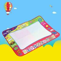 Drawing Water Pen Painting Doodle Mat Board Kids Toy w/ 2 Pens