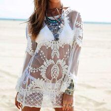 New Womens Bathing Suit Lace Crochet Swimwear Bikini Cover Up Summer Beach Dress