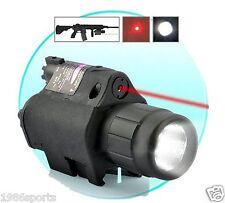 Combo CREE Flashlight+Red Laser/Sight picatinny Weaver Rail For Pistol/Gun #k01