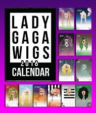 Lady Gaga 2018 Wig Calendar 5.5 x 8in